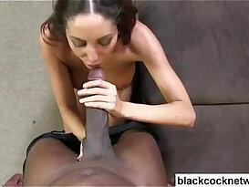 Black cock slut worshipping giant black black dick