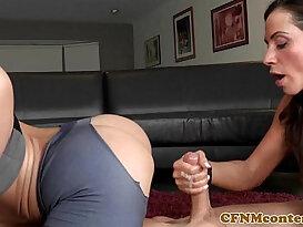 Nasty cfnm femdom Kendra Lust fucks perv