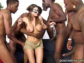 Brooklyn chases first anal hardcore gangbang
