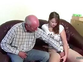 Opa uberredet seine Stief Enkelin und fickt sie durch