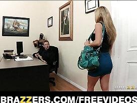 Busty secretary Kiera King seduces her bosses at work
