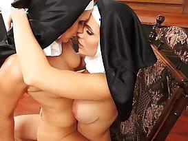 Catholic erotica sensual lesbian with sexy nuns
