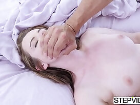Stepdaughter karlie brooks gets her pussy nailed