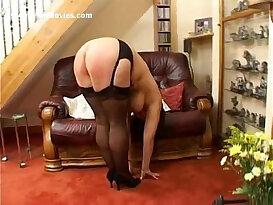 Hard punishment for fat milf masturbates with tits