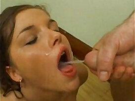 Shes very surprised his cum tastes so bad