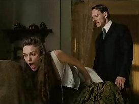 Keira Knightley Showing her big Tits Getting Spanked