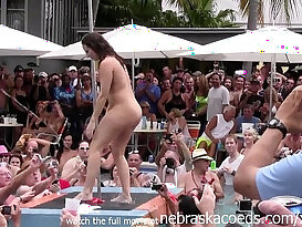 Stripping contest with busty horny wild mommies