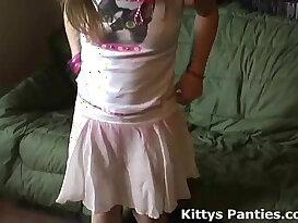 Petite teen Kitty in a cute little pink skirt
