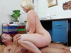 Busty Siri riding big black cock for sperm