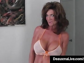 Hot Blooded Cougar Deauxma Dildo Pussy and Squirts!