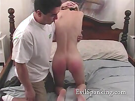 Madison her ass spanked red