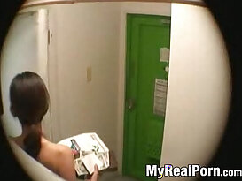 Japanese wife flashing delivery guy