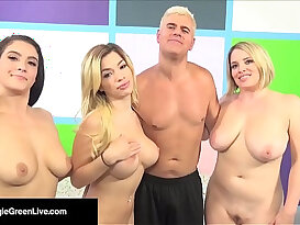 US Porn Star Maggie Green Has a Way Orgy W Noelle Easton!