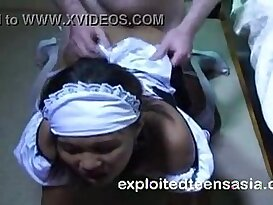 Filipina maid gets screwed by customer in Manila hotel