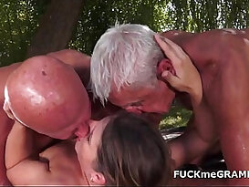 wild old studs screwed by youthfull stunner