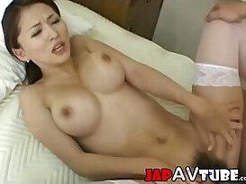 Busty nurse gets cum shot
