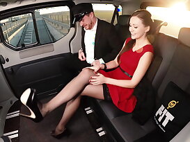 Sexy British babe Tina Kay gets cum in the cab