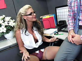 Naughty boss fucks her secretary hard anally