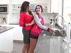 Mom helping her step-daughter to fuck her BF
